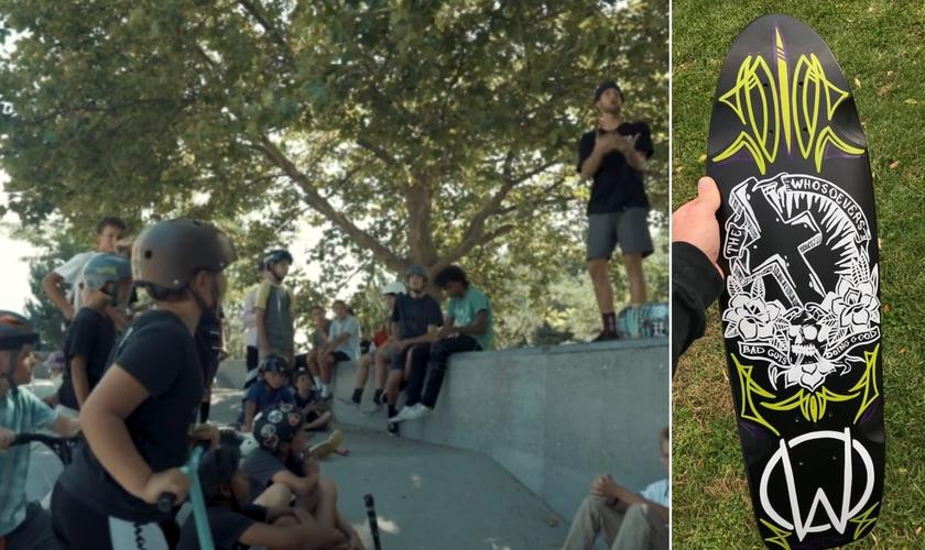 Grupo compartilha o Evangelho com jovens em espaços abertos durante a pandemia. (Foto: Reprodução / The Whosoevers)