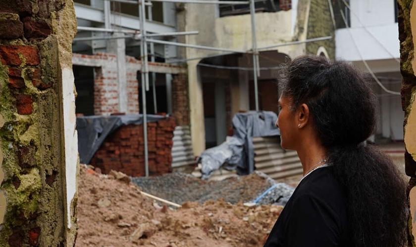 Em 2014, a Igreja de Sião no Sri Lanka sofreu um ataque terrorista. (Foto: Eternity News).