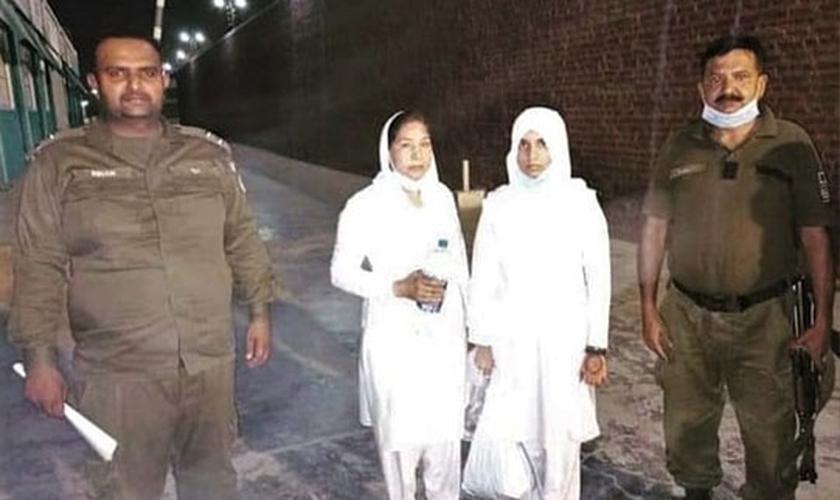 As enfermeiras foram presas e acusadas de blasfêmia. (Fotos: Reprodução / ICC)