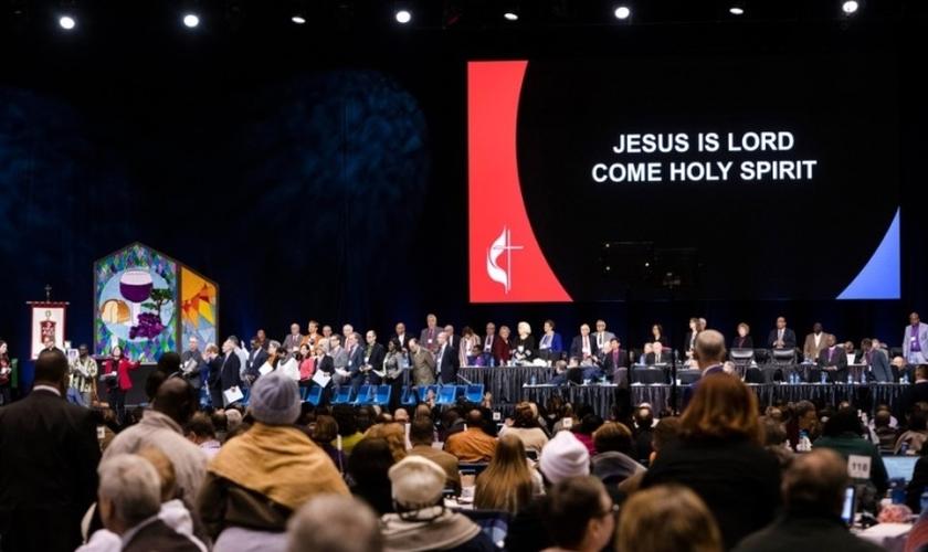 Sessão especial da Conferência Geral da Igreja Metodista Unida no Missouri, em 2019. (Foto: United Methodist News Service / Kathleen Barry)