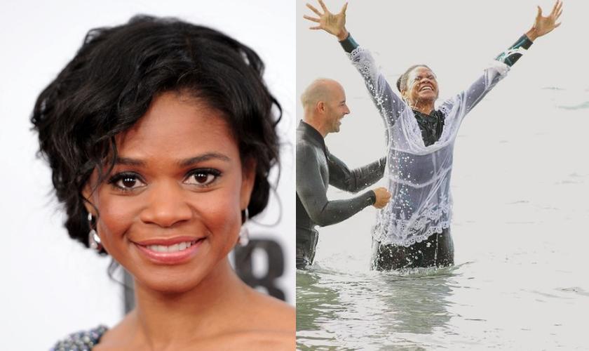 A atriz Kimberly Elise foi batizada novamente em seu compromisso com Jesus. (Foto: Stephen Lovekin/Getty Images/Instagram/Montagem Guiame)