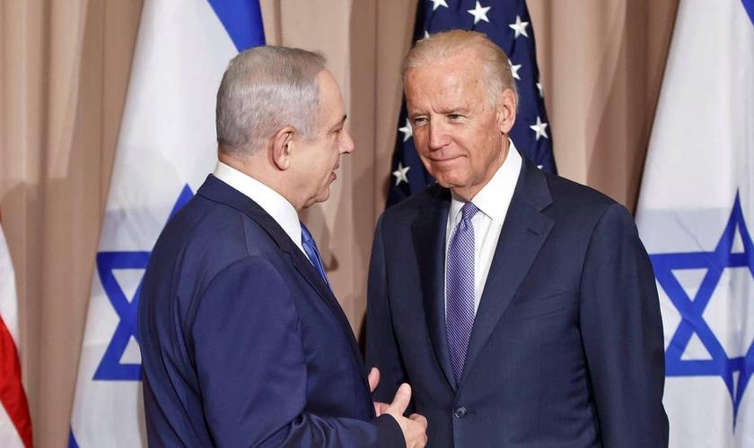 Benjamin Netanyahu e Joe Biden, quando era vice-presidente dos EUA, em 9 de março de 2010. (Foto: Michel Euler/AP)