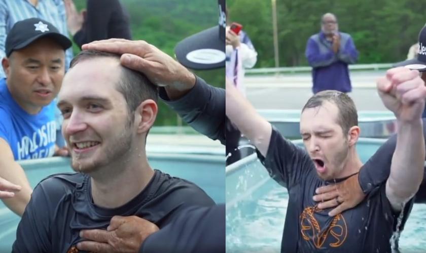 Michael foi salvo, liberto e batizado no dia em que planejou se suicidar. (Foto: Reprodução/ Instagram Sean Feucht).