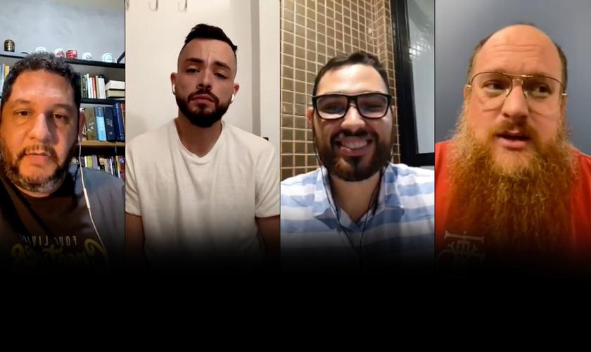 Pastores e especialistas falam sobre os atuais conflitos entre Israel e Palestina. Da esquerda para a direita: Fábio Coelho, Raphael Almeida, Igor Sabino e Angelo Bazzo. (Foto: Reprodução/Instagram)