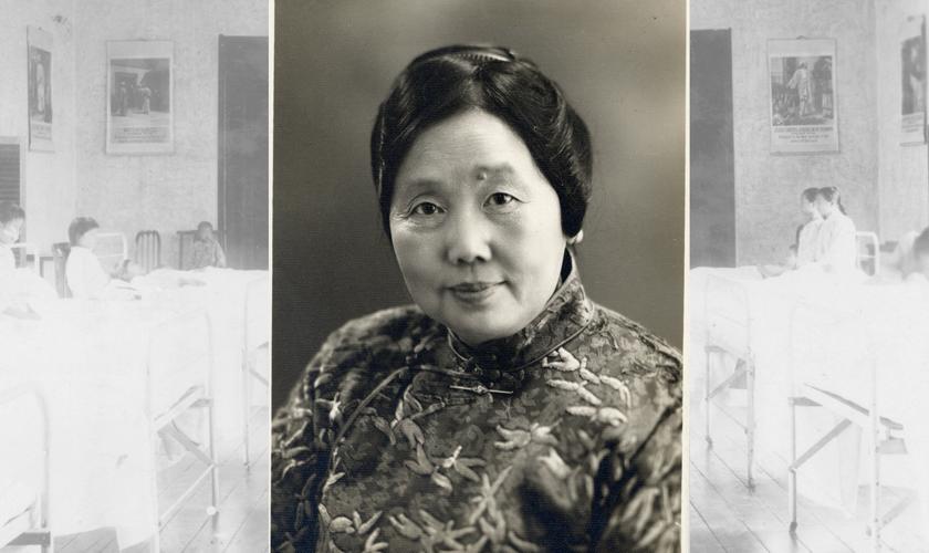 Shi Meiyu em seus anos como médica. (Foto: Bentley Historical Library, University of Michigan).
