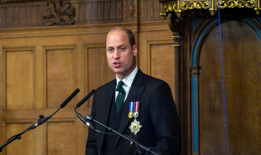 O duque de Cambridge discursando na Assembleia Geral da Igreja da Escócia (Foto: Getty Images).