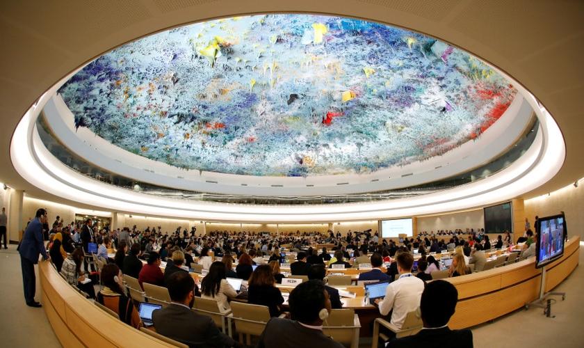 Conselho de Direitos Humanos um dia após os EUA anunciarem sua saída, em Genebra. (Foto: Denis Balibouse/Reuters)