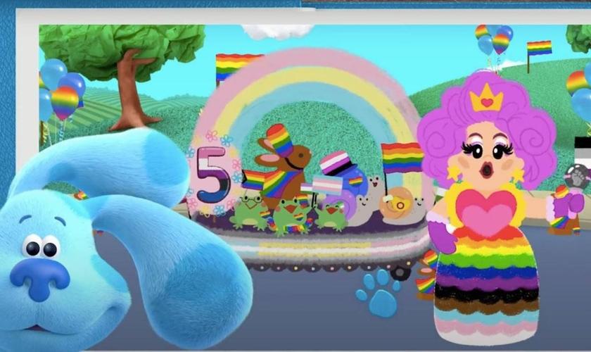 Novo desenho do Nickelodeon, sobre desfile do Orgulho Gay, do Blue's Clues & You, para cantar junto. (Foto: Reprodução/YouTube)
