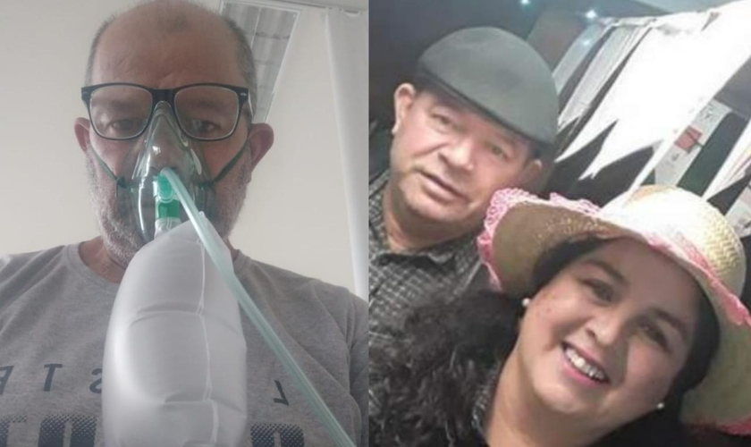O comerciante Eduardo Oliveira, de 56 anos, teve 70% dos pulmões comprometidos. (Foto: Arquivo pessoal).