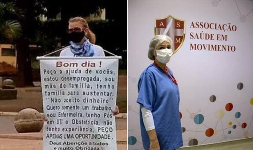 Lourdete Machado, 42 anos, conseguiu trabalho após seguir uma direção de Deus. (Foto: Arquivo pessoal)