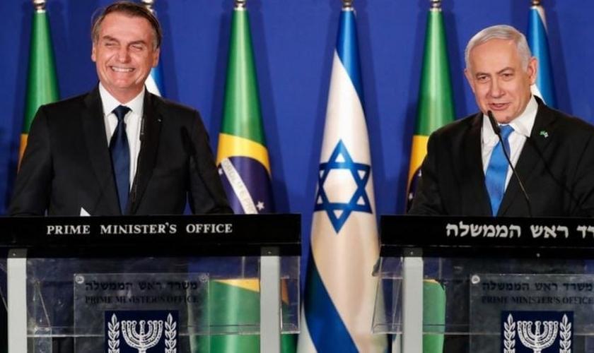O presidente Jair Bolsonaro e o primeiro-ministro Benjamin Netanyahu. (Foto: Reprodução / PR)
