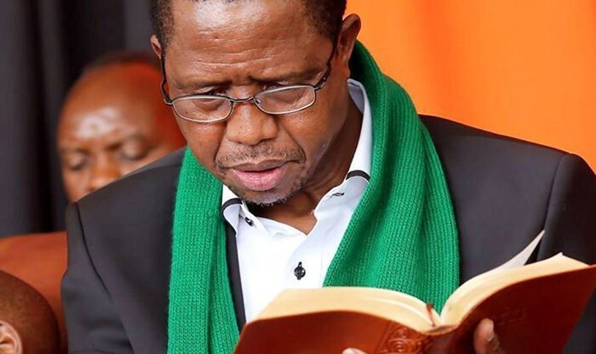 O presidente da Zâmbia, Edgar Chagwa Lungu. (Foto: Reprodução / UGCN)