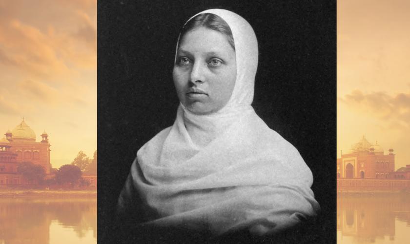 Mesmo como cristã, Pandita Ramabai manteve muito de sua cultura, usando roupas indianas e sendo vegetariana. (Foto: Reprodução / India Faith)