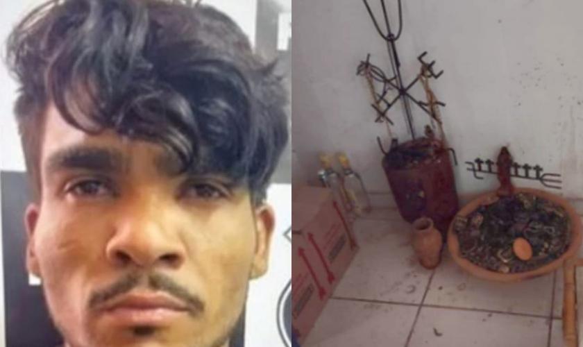 O psicopata Lázaro Barbosa de Sousa autor da chacina que está foragido, teria sacrificado Cleonice em um ritual satânico. (Foto: Polícia Civil/Reprodução).
