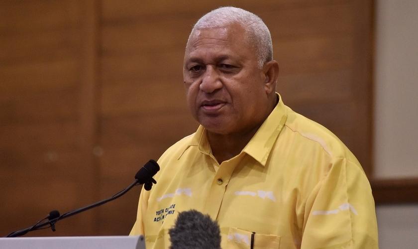 Primeiro-ministro Voreqe Bainimarama. (Foto: Reprodução / Jovesa Naisua)