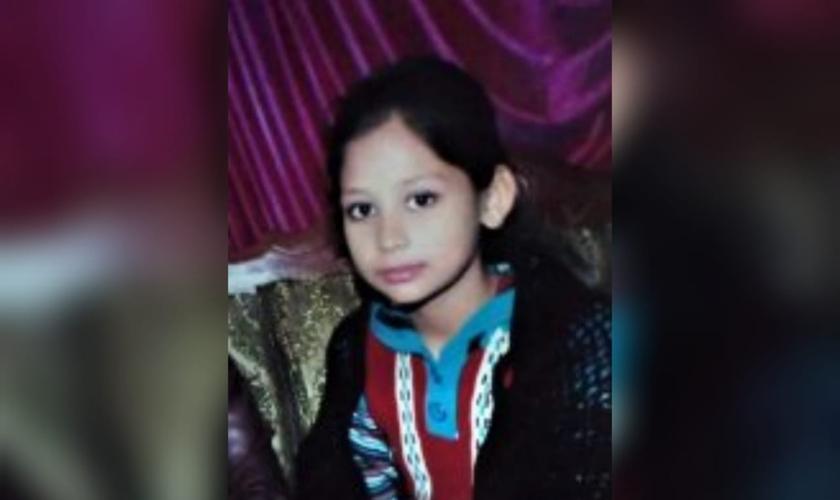 Nayab Gill foi sequestrada e casada à força no Paquistão em maio de 2021. (Foto: Morning Star News).