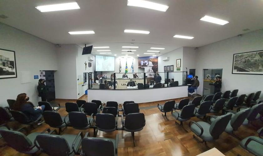 Sessão legislativa da Câmara Municipal de Votorantim. (Foto: Reprodução / Câmara Municipal de Votorantim)