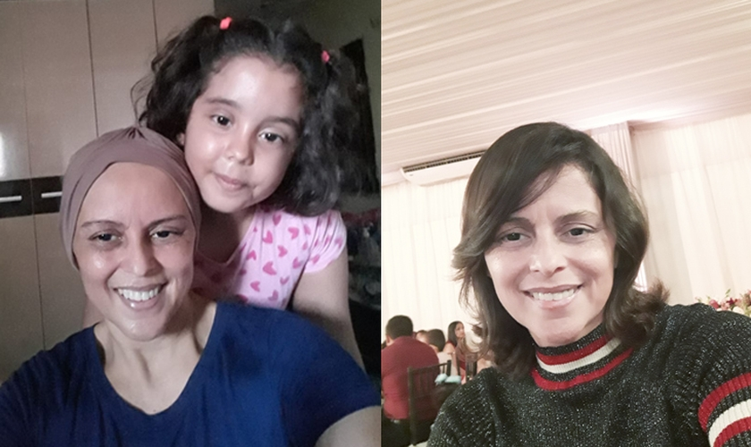 Jane de Sousa Brito foi curada por Deus do câncer de mama. (Foto: Site Mulher Cristã).