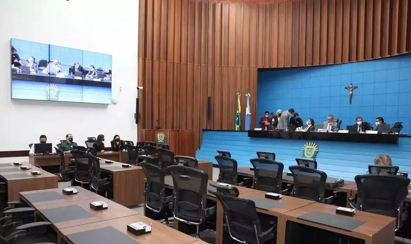 Plenário da Assembleia Legislativa de Mato Grosso do Sul. (Foto: Reprodução / Campo Grande News / Wagner Guimarães / Alems)