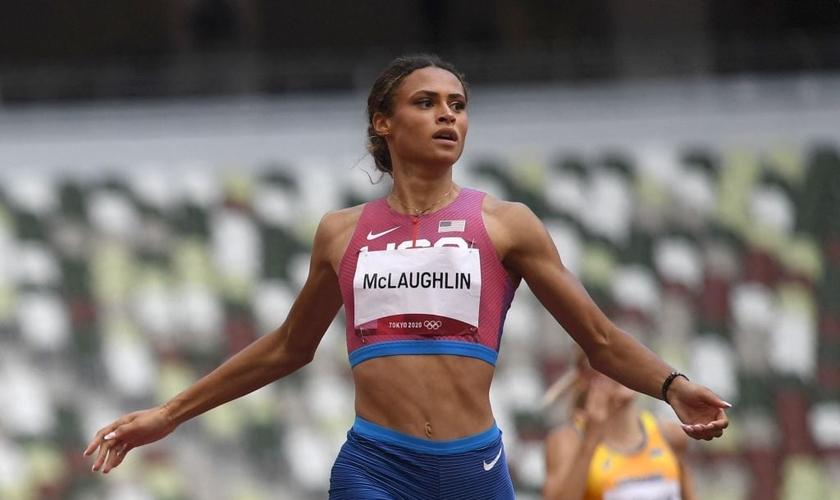 Sydney McLaughlin, dos EUA, estabeleceu recorde mundial nas Olimpíadas. (Foto: AFP/Getty Images)