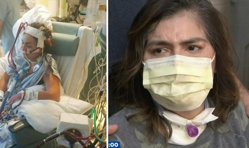 Michell Garcia, de 47 anos, superou complicações graves da Covid-19. (Foto: KPRC-TV)