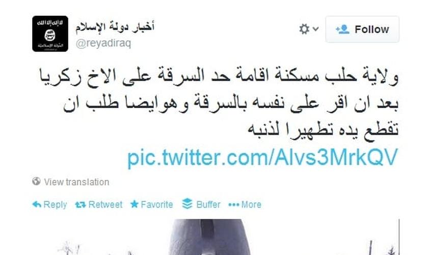 Pelo menos 2 mil contas associadas ao Estado Islâmico foram suspensas pelo Twitter recentemente