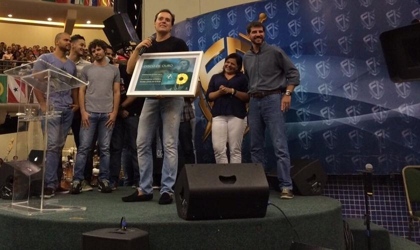 As premiações foram entregues durante o Culto Fé, na Igreja Batista da Lagoinha