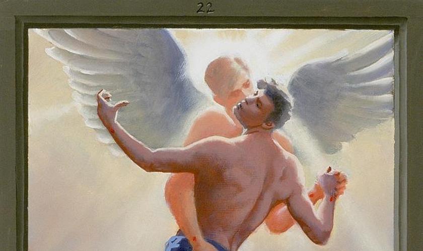 Quadro Paixão de Cristo: A Visão Gay. (Douglas Blanchard/ Fine art america)