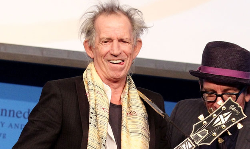 Keith Richards. guitarrista da banda de rock Rolling Stones. (Rádio Blog)