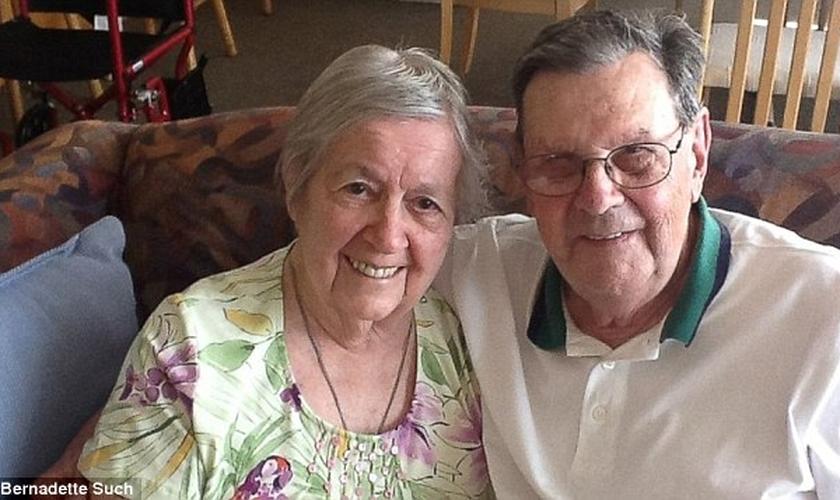Arthur e Rosemary Schneider são casados há quase 70 anos.