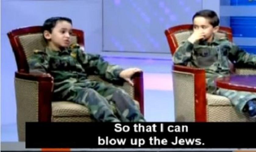 O episódio foi exibido pela TV Al-Aqsa, o canal oficial do Hamas, organização jihadista que governa Gaza. (Foto: WND)