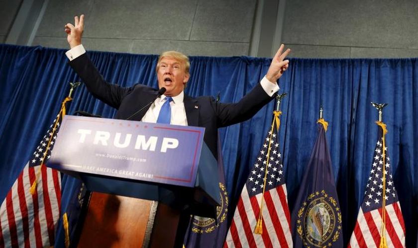 Donald Trump está liderando a corrida para representar o partido republicano na eleição presidencial dos Estados Unidos (Foto: IB Times)
