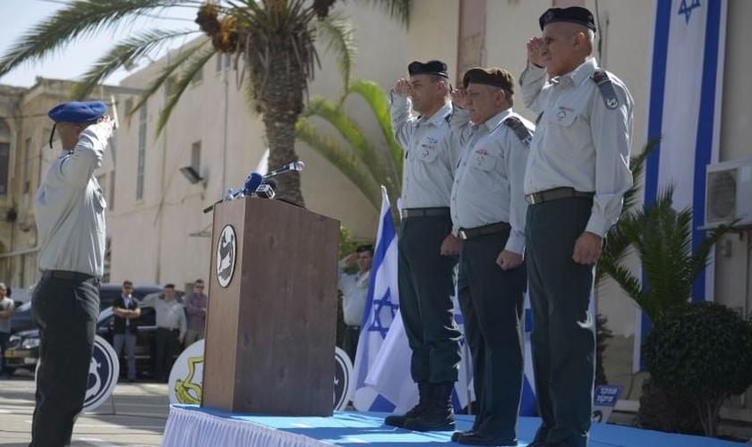 Cerimônia de troca de liderança do Comando do Sul, em Israel (Foto: Comando do Sul)