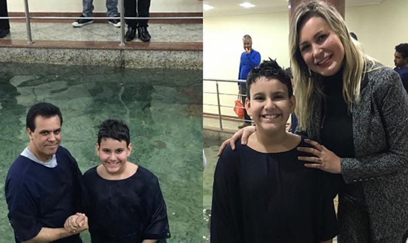 Arthur foi batizado no mesmo templo em que a mãe. (Foto: Reprodução/Instagram)