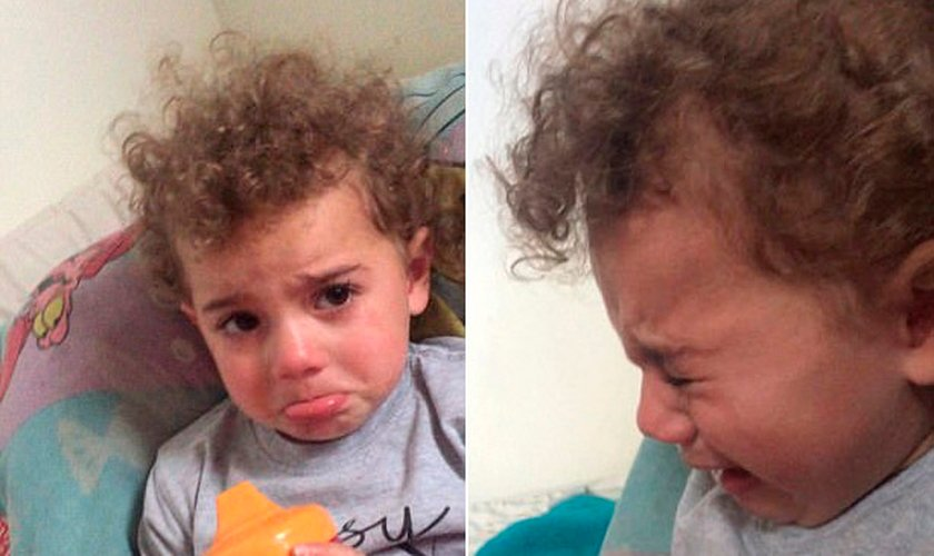 Ella Grace, de 2 anos, chorou quando percebeu o amor de Jesus. (Foto: Reprodução/YouTube)