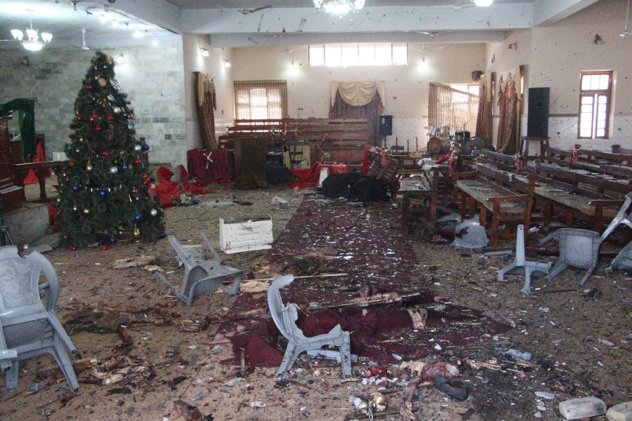Igreja destruída