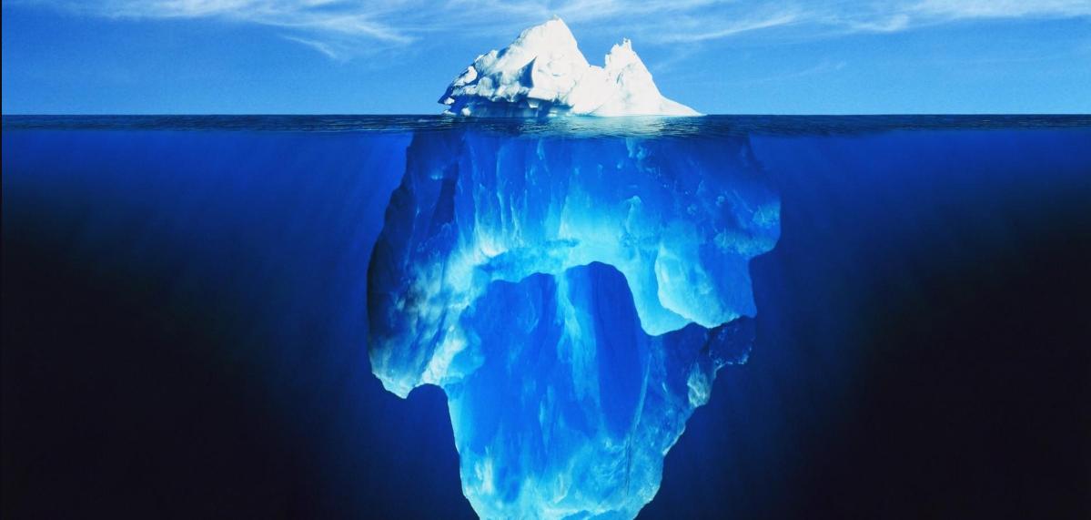 A ponta do iceberg