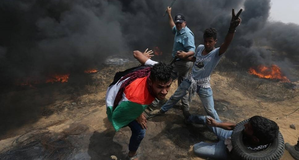 Terroristas palestinos causaram mais de 40 incêndios em dois dias, na fronteira com Israel