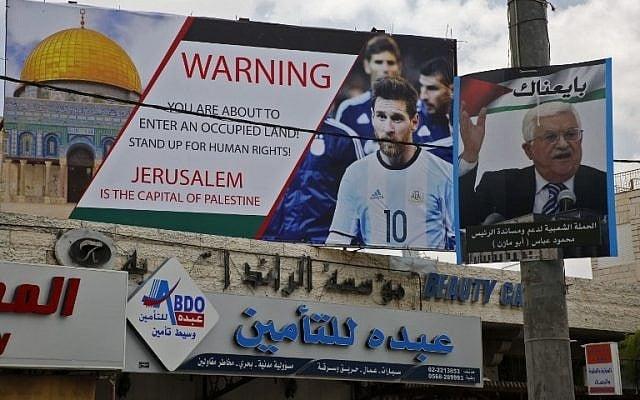 Palestinos ameaçam queimar camisetas e fotos de Messi por causa de jogo em Israel