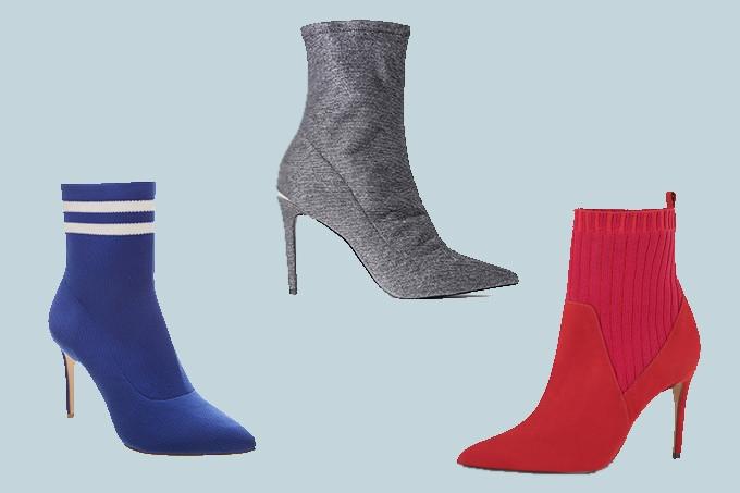 A tendência das botas estilo meia