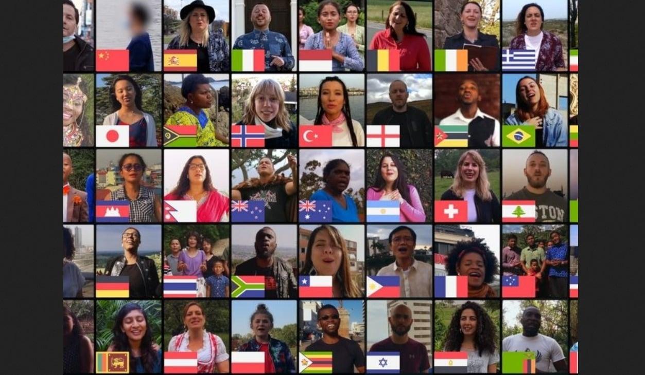 """Brasil se junta a 50 países para compartilhar o Evangelho cantando """"Amazing Grace"""""""