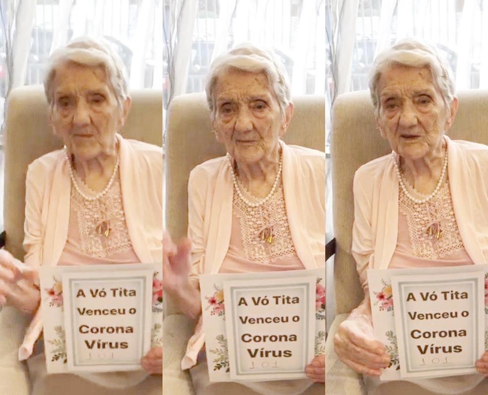 """Cheia de fé, idosa de 101 anos é curada da Covid-19: """"Agradeço a Deus por estar viva"""""""