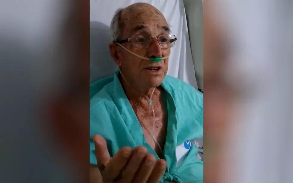 Idoso com coronavírus canta Salmo 91 no hospital para animar doentes