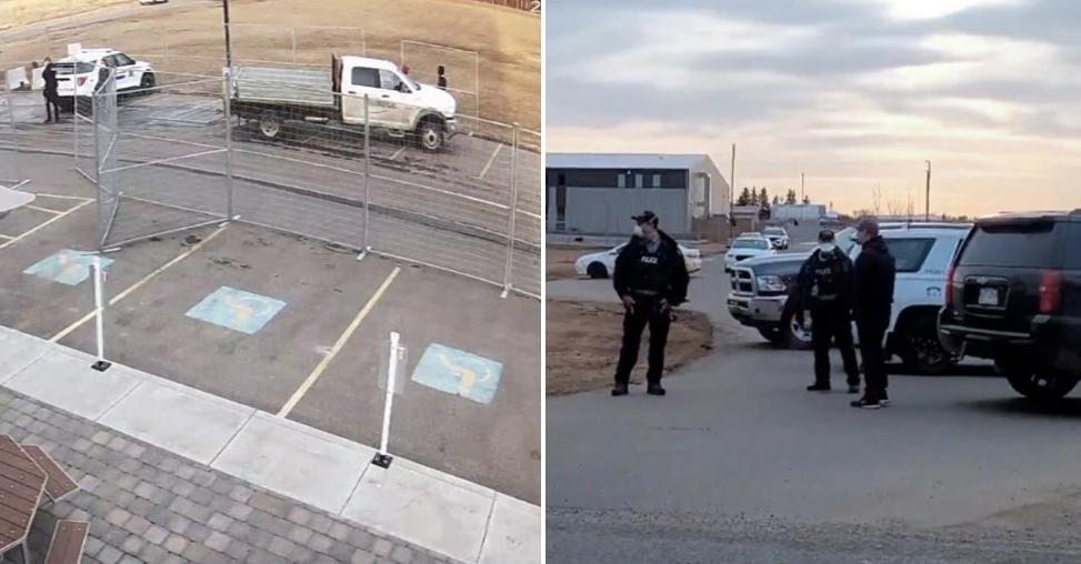 Igreja é cercada por barricada da polícia para impedir entrada de fiéis, no Canadá