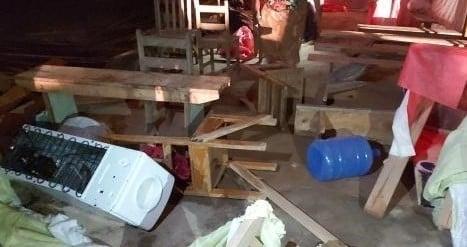 Igreja evangélica é invadida e destruída durante culto, no interior do Mato Grosso