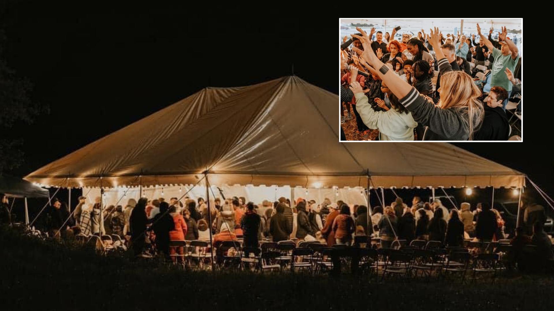 Evangelismo: Pastor monta tenda à beira de estrada e leva centenas a Jesus