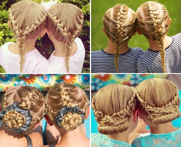penteado das gêmeas