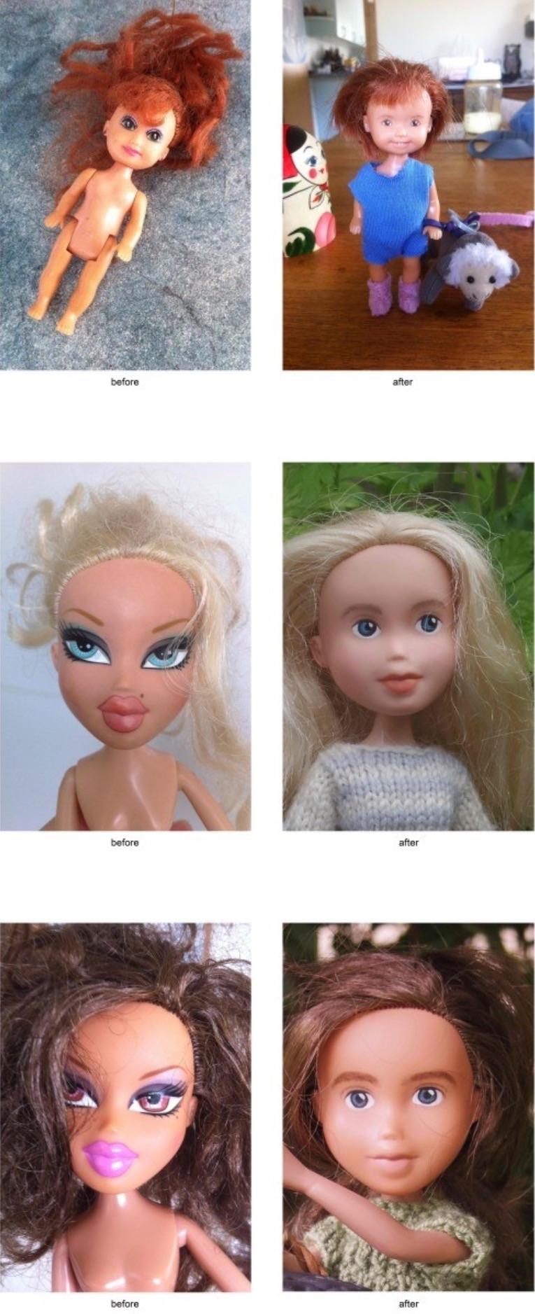 Bonecas sem maquiagem