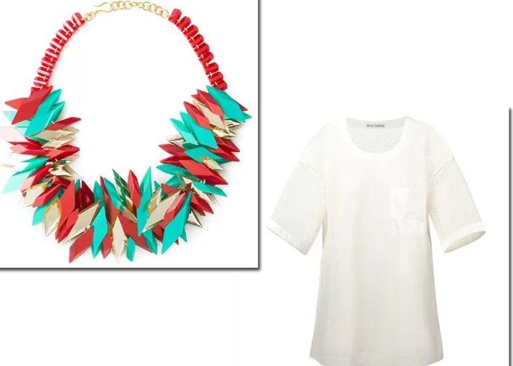 Dica de como usar o colar certo para cada tipo de decote de blusas.