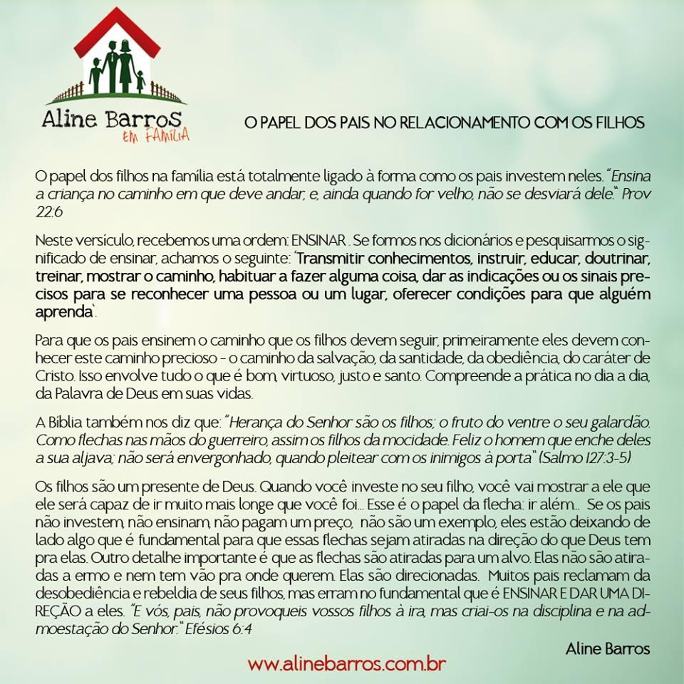 Aline Barros _ texto